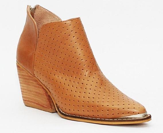 Botas Zapatos Calzados Cuero Botinetas Mujer Original Texana