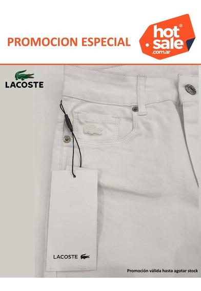 Promocion Jean Lacoste Mujer Blanco Chupin