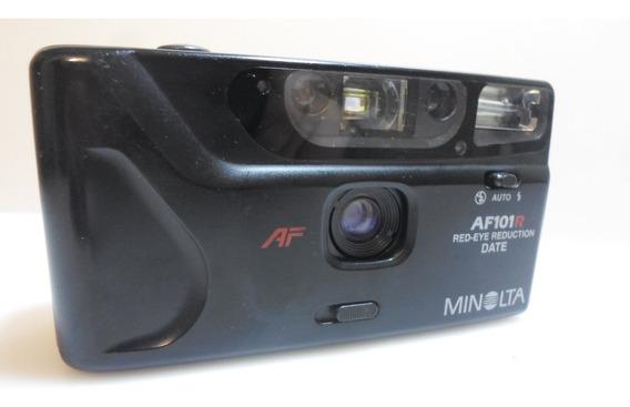 Camera Fotografica Minolta Af 101 R35 Mm Antiga Funcionando.