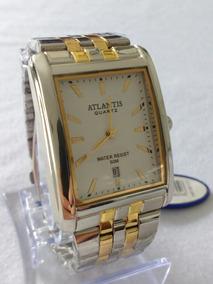 Relógio Feminino Detalhes Dourado Atlantis Gold 308901gg.