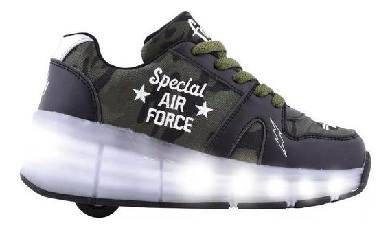 Zapatillas Footy Con Rueda Roller Usb Luz Led Fty Calzados