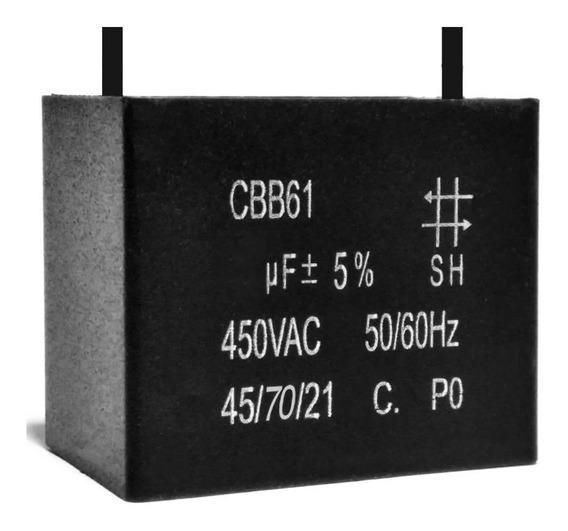 Capacitor Partida 2,5uf X 450vac Fio Retangular