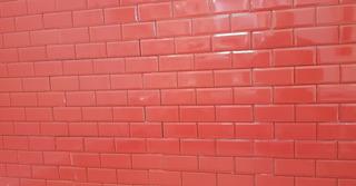 Simil Subway Placas De 34x50 Encastre Rojo Pamesa Ms
