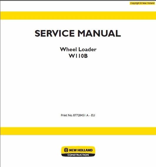 Manual De Serviço - New Holland - W110b