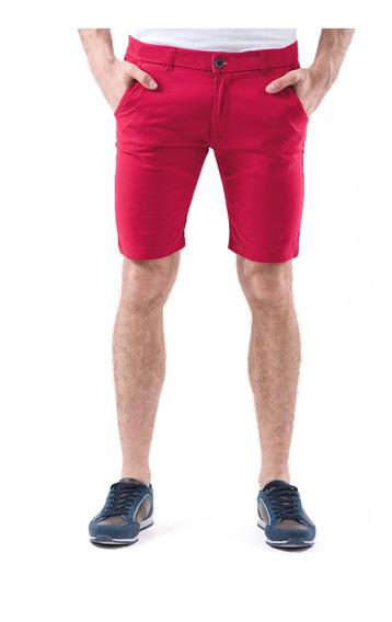 Short Tucane Hombre Flex Fit Shorts Rojo Casual Clásico