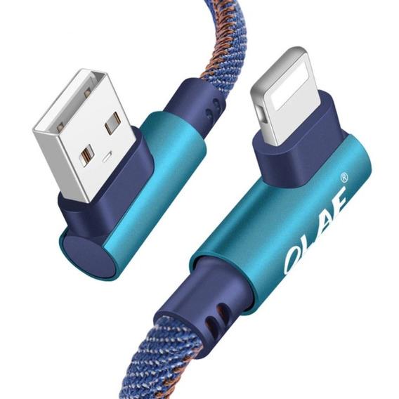 Cabo Curto 25cm iPhone Lightning Usb 90 Graus L Frete R$14