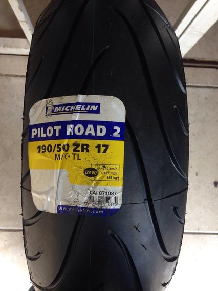 Pneu Michelin Pilot Road 2 190/50 Zr17 73w Traseiro
