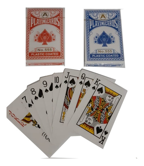 Kit C/ 100 Jogos De Baralho Papel Barato Truco Poker Mágica