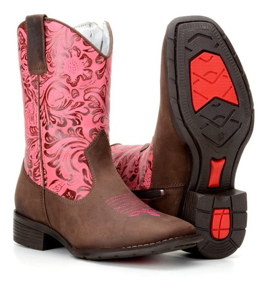 Bota Infantil Feminina Texana Country 100% Couro 4country