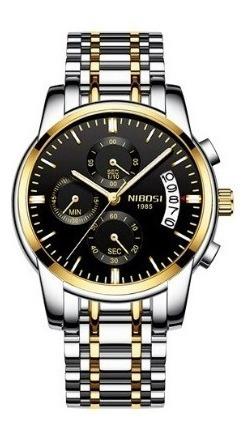 Relógio Masculino Nibosi Original Analógico 2353 Caixa Luxo