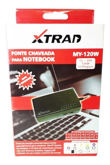 Fonte Carregador Universal Notebook Xtrad My-120w Com 10plug