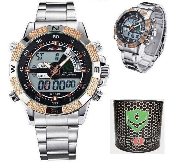 Relógio Masculino Weide Com Caixa Box Original Mod. Wh-1104