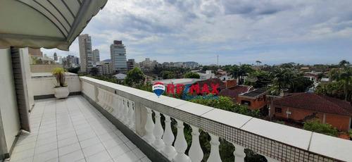 Imagem 1 de 27 de Cobertura Com 4 Dormitórios À Venda, 220 M² Por R$ 540.000,00 - Praia Da Enseada - Guarujá/sp - Co0266