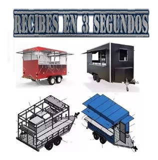 Projeto Carretinha Reboque (food Truck) Trailer Para Lanches
