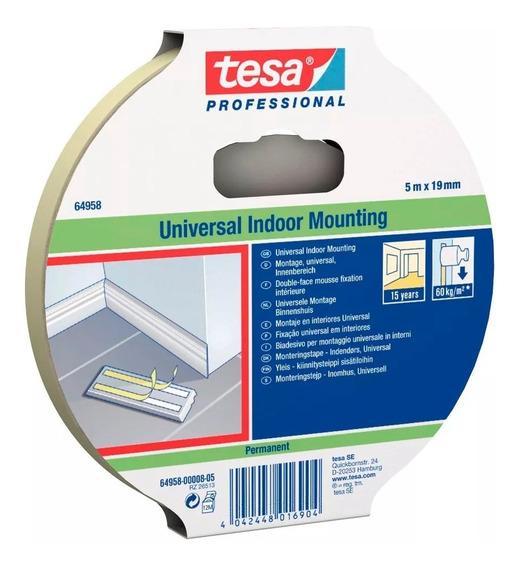 Cinta Adhesiva Doble Faz Multiuso Interior 19mm X 5mtro Tesa