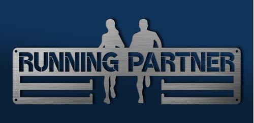 Imagen 1 de 6 de Medallero Running Partner Portamedallas Personalizado Gratis