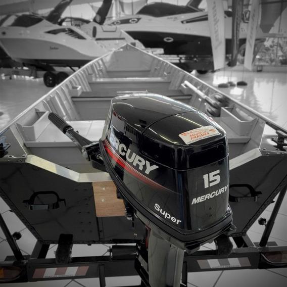 Barco Pesca Especial Pr 600 Sport Motor 15hp Super E Carreta