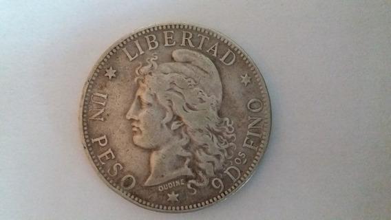 Moneda Argentina Patacón De Plata 1 Peso 1882