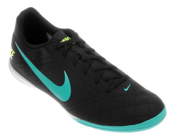 Chuteira Nike Futsal Beco 2 Preto Agua Verde Original Tenis