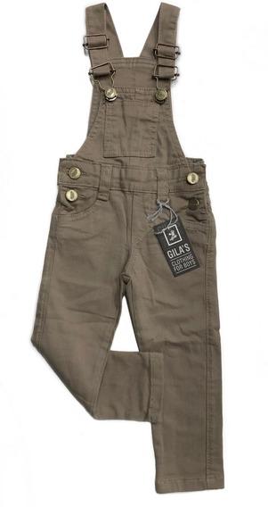 Jardineira Jeans Comprida Infantil Menino 1 2 3 4 6 8