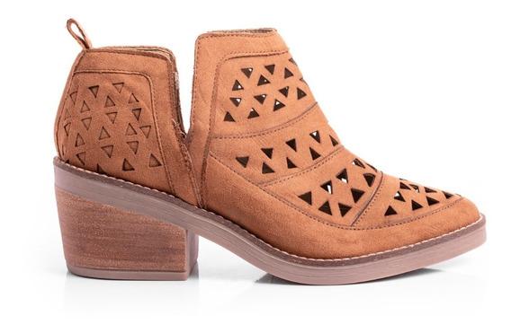Botas Botinetas Mujer Zapatos Picadas Zueco Caladas Cuero Pu