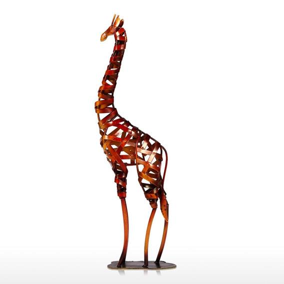Tooarts Metal Escultura Ferro Trançado Girafa Casa Furnishin