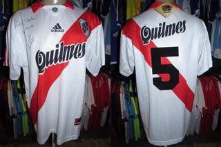 River Plate 1998 Camisa Titular Tamanho Gg Número 5.