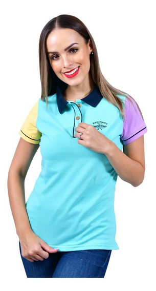 Playera Polo Mujer Casual Color Menta Porto Blanco Dp-590