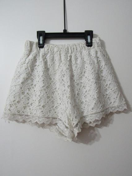 Short Blanco De Broderie Yosylovers