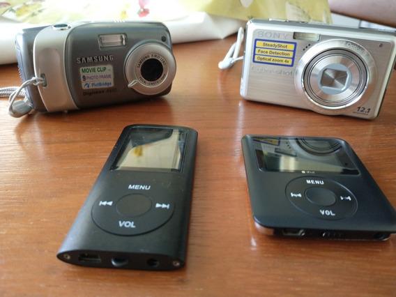 Vendo Câmeras Samsung E Sony E Mp4 Usados