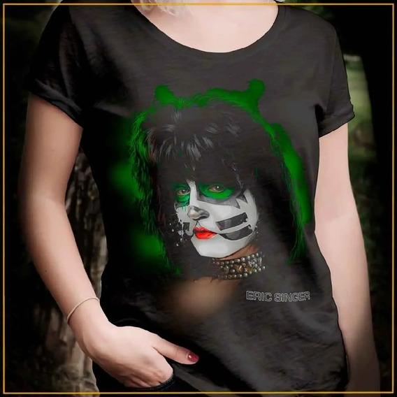 Camiseta Camisa Kiss Eric Singer Femino Blusa M 0001