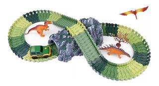 Juguete Niños Pista Autos Dinosaurios 104 Pzs Zaki Full