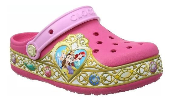 Crocs Disney Princess Vibrant Pink Rosa Luces Princesas