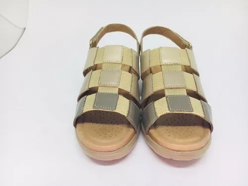Sandálias Femininas Funções Ortopédicas Couro Sucesso 80730