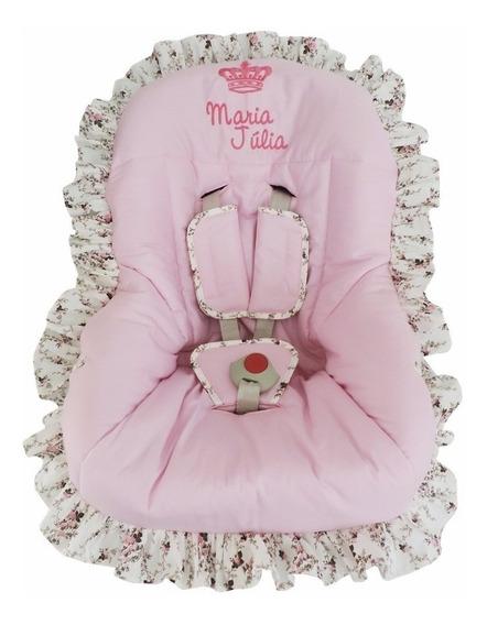 Capa Para Bebê Conforto Floral Rosa