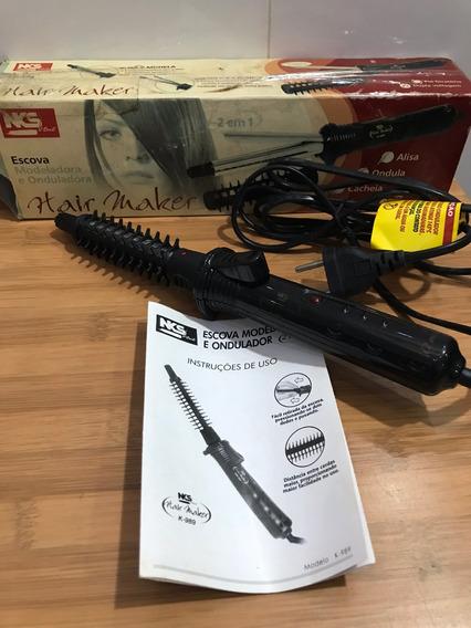 Escova Modeladora Onduladora 2 Em 1 Hair Maker Nks K-989