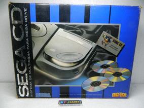 Sega Cd Na Caixa Com Manual - Excelente Estado - Loja Rj