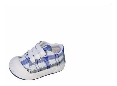 Zapatillas Nene Lona Cordón Primavera Escocés 2018 17 Al 24