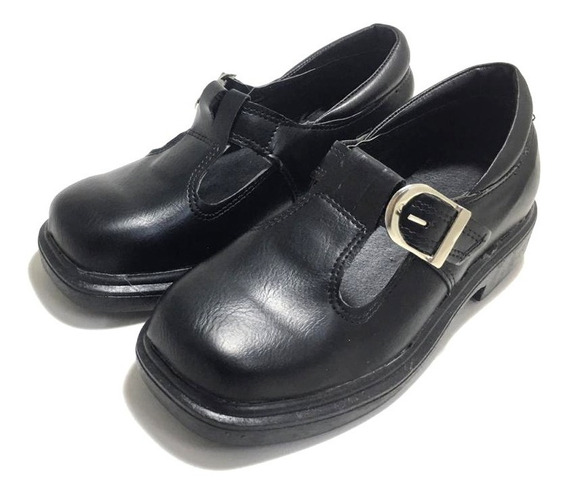 Zapato Colegial De Niñas Con Hebilla Guillerminas (12/3010)