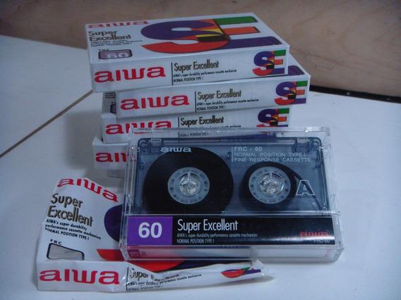 Kit Com 6 Fitas Cassete Aiwa De 60 Minutos