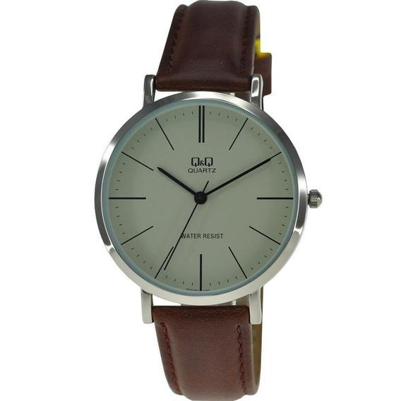 Reloj Q&q By Citizen Caballero Piel Q978j300y
