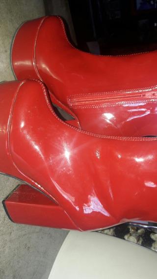 Botas Rojas Charoladas Nuevas35