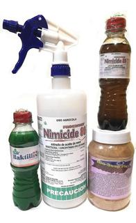 Aceite Neem, Bacillus Subtilis, Jabón Potásico Y Atomizador