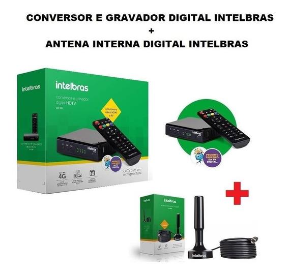 Conversor Digital De Tv Intelbras + Antena Interna Digital