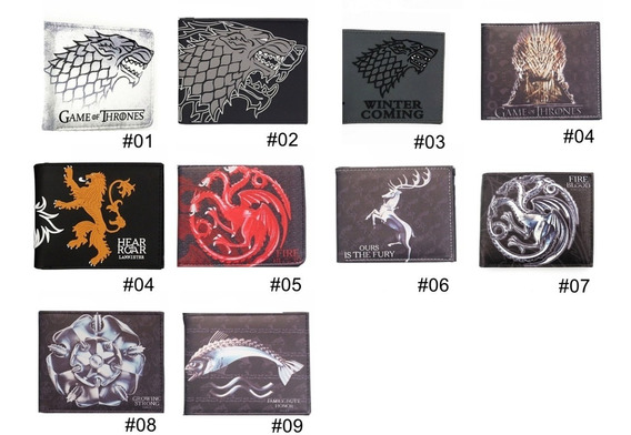 Juego De Tronos - Cartera Stark Targaryen - Game Of Thrones