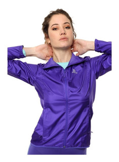 Campera Salomon Rompeviento Mujer Agile Jkt Running Trail