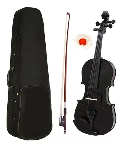 Violin Palatino De Estudio 4/4 Color Negro Con Estuche