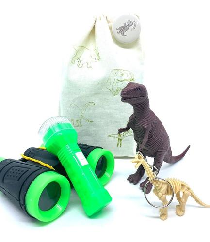 Imagem 1 de 5 de Kit Paleontólogo Explorador Dinossauro Aventura Na Ecobag