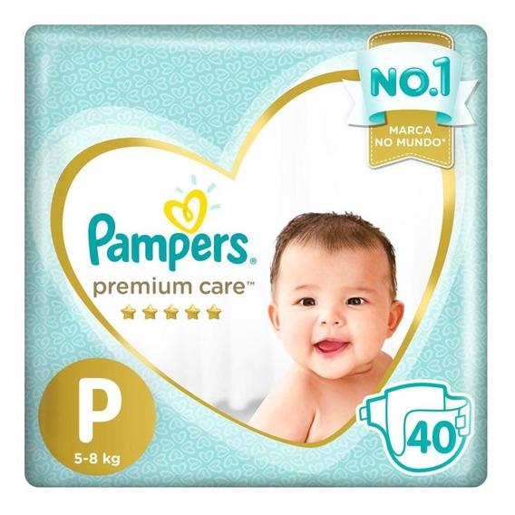 Fralda Pampers Premium Care Mega Tamanho P 40 Unidades