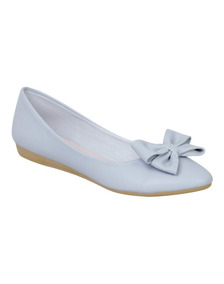 Zapatos Flat De Mujer Clasben Color Azul Claro